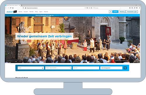 Online-Ticketing-Plattform Eventjet